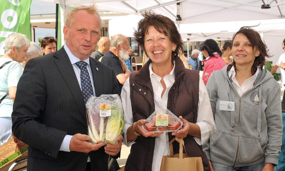 Landwirtschaftsminister Dr. Till Backhaus eröffnet Biomesse in Warnemünde. Foto: Joachim Kloock