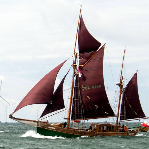Haikutter Regatta bei der 23. Hanse Sail 2013. Foto: Claus Larsen