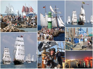 Hanse Sail  in Rostock und Warnemünde. Foto: Joachim Kloock
