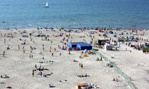 Strand in Warnemünde. Foto: Martin Schuster
