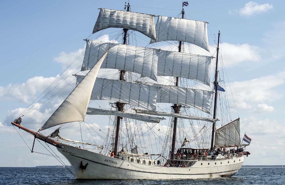 Niederländische Dreimast-Bark Artemis. Foto: Archiv Hanse Sail Rostock