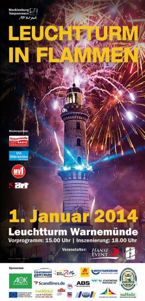 Offizieller Handzettel von Leuchtturm in Flammen 2014
