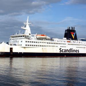 Scandlines-Fährschiff Prins Joachim in Warnemünde. Foto: Martin Schuster