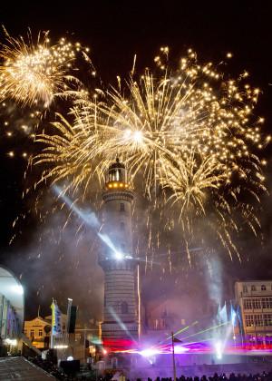 Leuchtturm in Flammen 2013. Foto: Thomas Ulrich