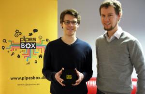 Gründer Jan Krog und Elmar Zeeb mit ihrer PipesBox