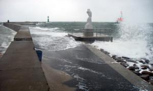 Sturm und Unwetter in Warnemünde