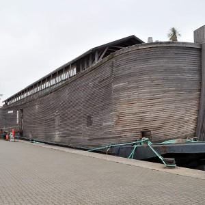 Ausstellungsschiff Arche Noah im Stadthafen Rostock. Foto: Joachim Kloock