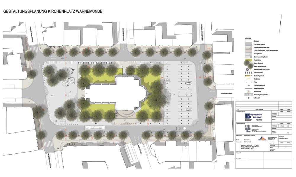 Gestaltungsplanung Kirchenplatz Warnemünde von 2013