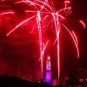 Leuchtturm in Flammen 2014 von Jessica Na