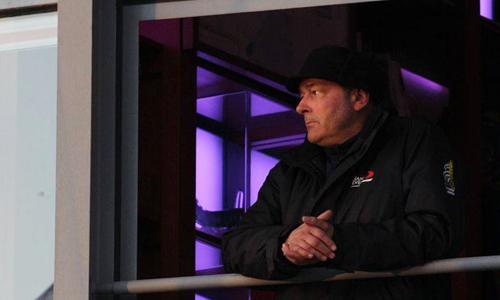 Torsten Sitte bei Leuchtturm in Flammen in Warnemünde. Foto: Andreas Mohr