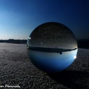 Warnemünde in der Kugel. Foto: Wellenreiter Photography
