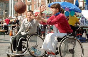 Fotoausstellung zum Europäischen Aktionstag zur Gleichstellung von Menschen mit Behinderung. Foto: Joachim Kloock