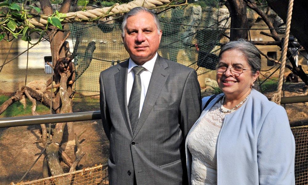 Der Botschafter von Guatemala in Deutschland, S.E. Carlos Humberto Jimenez Licona, mit seiner Frau Sara heute im DARWINEUM. Foto: Joachim Kloock
