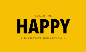 Pharrell Williams presents Happy — the world's first 24 hour music video.
