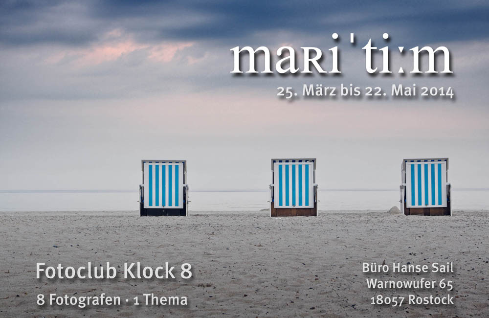 Foto-Ausstellung: mari'ti:m - wertvolle See-/Sehstücke in Rostock. Foto: Hanse Sail Büro