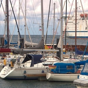 Warnemünder Segelhafen. Foto: NDR/Populärfilm