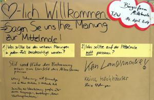 Gesammelte Meinungen von Bürgern auf dem Bürgerforum Mittelmole Warnemünde. Foto: Jens Schröder