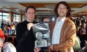 Heiko Schulze und Jürgen Dührkop leiteten das Bürgertreffen in Warnemünde.
