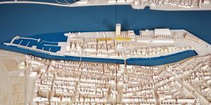 Modell der Mittelmole Warnemünde vom Amt für Stadtentwicklung, Stadtplanung und Wirtschaft, 2014