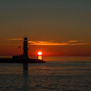 Sonnenuntergang Warnemünde. Foto: Jens Schröder