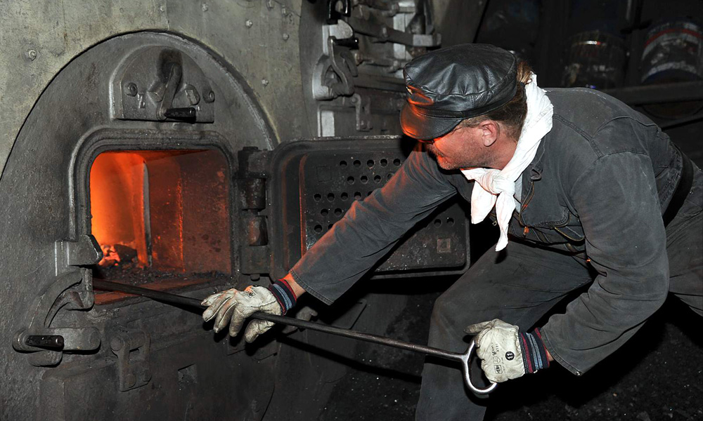 Kohleofen des Dampf-Eisbrechers Stettin. Foto: Joachim Kloock