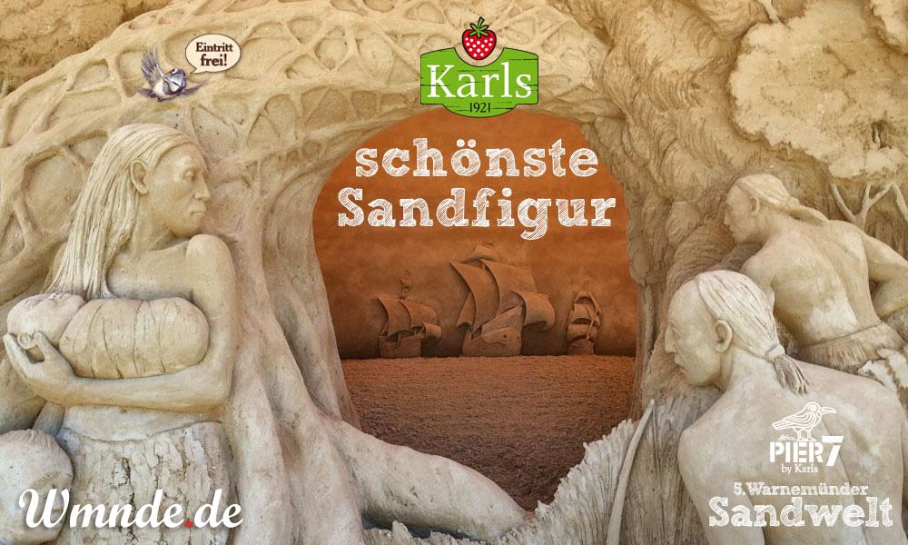 Karls schönste Sandfigur in Warnemünde 2014