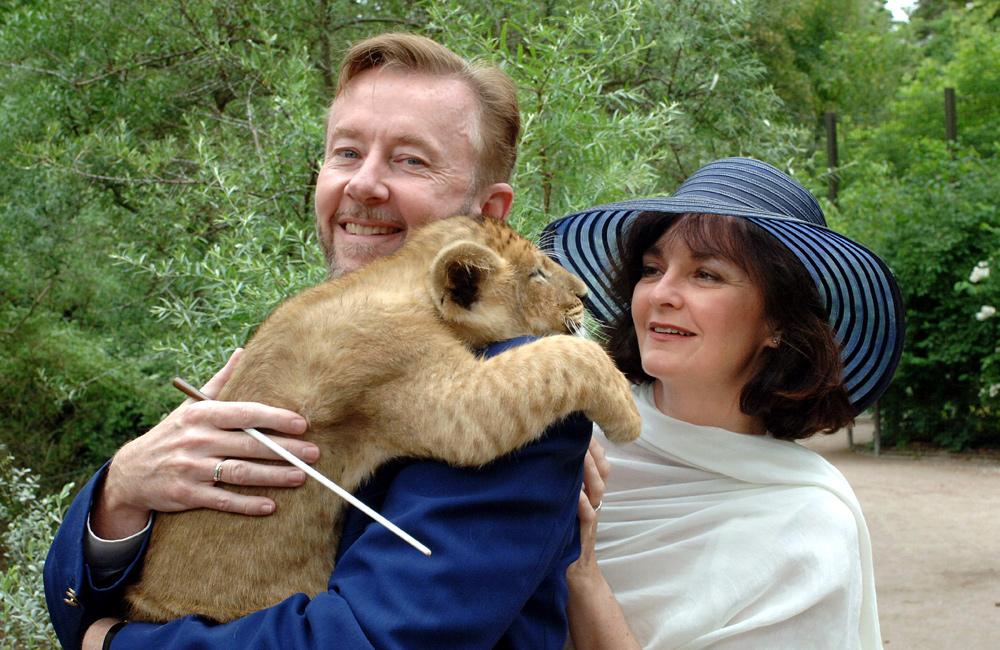 Mit seiner 3. Klassik-Nacht verabschiedet sich der amerikanische Künstler Peter Leonard vom Zoo-Publikum. Foto: Joachim Kloock