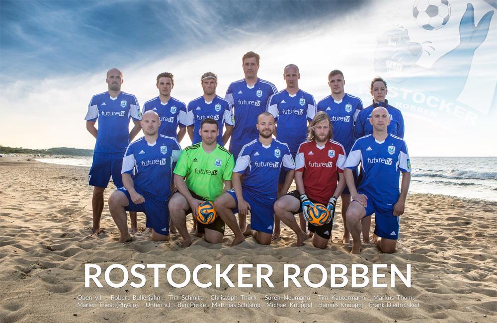 Rostocker Robben der Saison 2014 in Warnemünde. Foto: Baltic Foto
