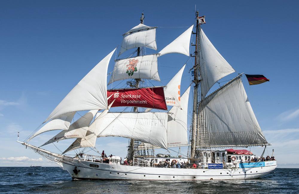 Segelschiff Greif. Foto: Archiv Hanse Sail Rostock