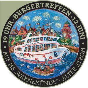 Bürgertreffen am 12. Juni 2014 auf dem Fahrgastschiff Ostseebad Warnemünde am Alten Strom