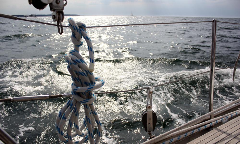 Notruf von einem Segler auf der Ostsee