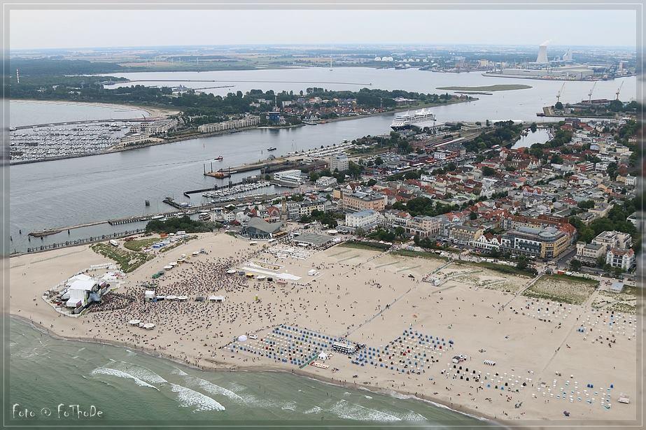 Luftaufnahme von N-Joy The Beach in Warnemünde. Foto: Thomas Deter