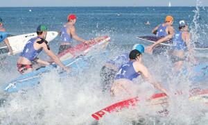 DLRG Cup: Rein ins Wasser, rein in den Wettkampf. Foto: DLRG