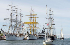 Großsegler am Warnemünder Passagierkai, Foto: Hanse Sail Rostock