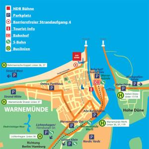 Verkehrskonzept zur NDR-Beachparty im Juli 2014 in Warnemünde
