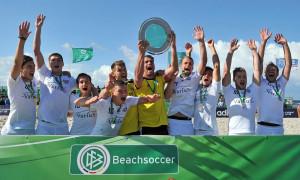 Sieger des DFB-Beachsoccer-Cups 2014 in Warnemünde: Beach Soccer Team Chemnitz. Foto: Joachim Kloock
