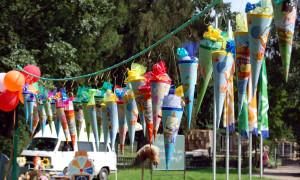 Zuckertütenfest der ABC-Schützen im Zoo Rostock. Foto: Joachim Kloock