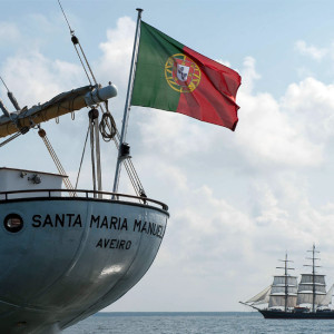 Santa Maria Manuel bei der 24. Hanse Sail 2014 vor Warnemünde. Foto: Lutz Zimmermann / Hanse Sail Rostock