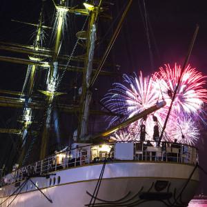 Sailors Feuerwekr zur 24. Hanse Sail 2014 in Warnemünde. Foto: Lutz Zimmermann / Hanse Sail Rostock