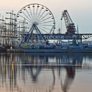 Stadthafen Rostock zur 24. Hanse Sail 2014. Foto: Jens Schröder