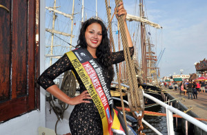 Sandra Blockus ist Miss Hanse Sail 2014. Foto: Joachim Kloock