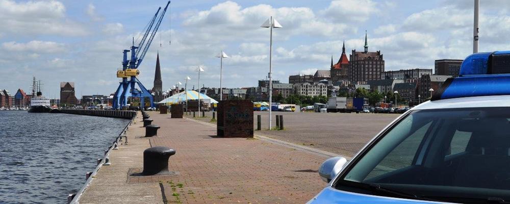 Titelbild der Polizei Rostock auf Twitter. Foto: Polizei Rostock