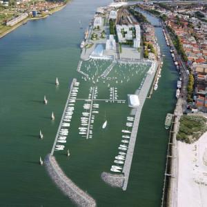 Olympiahafen Warnemünde auf Basis einer Visualisierung. Foto: alpha3/RGS