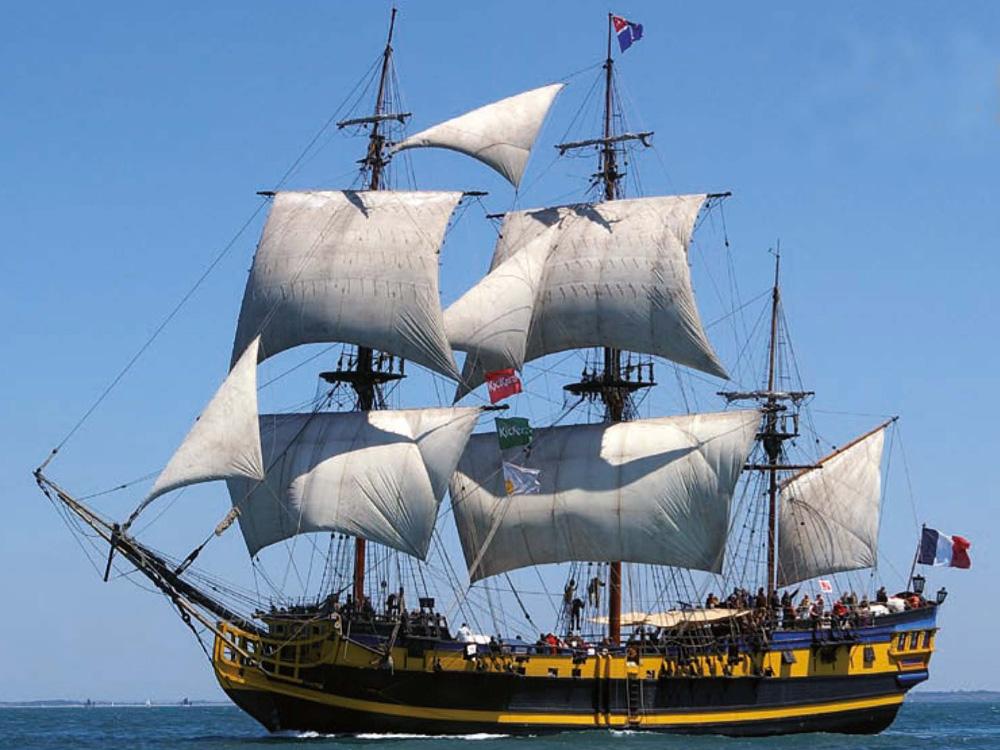 Fregatte Etoile du Roy aus Frankreich.Foto: Archiv Etoile du Roy
