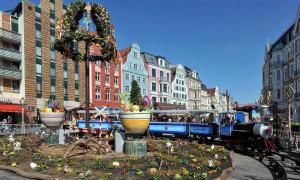 Rostocker Ostermarkt in der Innenstadt. Foto: Joachim Kloock