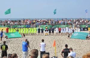 Finale der Deutschen Beachsoccer-Meisterschaft in Warnemünde. Foto: Joachim Kloock