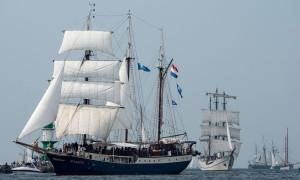 Traditionssegler auf der 25. Hanse Sail in Warnemünde. Foto: Hanse Sail Rostock