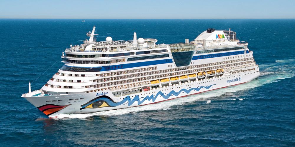 AIDAdiva auf Kreuzfahrt. Foto: AIDA Cruises