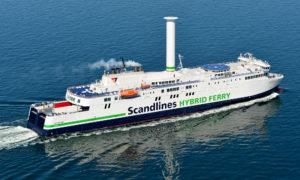 Scandlines-Fähre Copenhagen mit Rotorsegel. Foto: Michael Lemvig Olsen