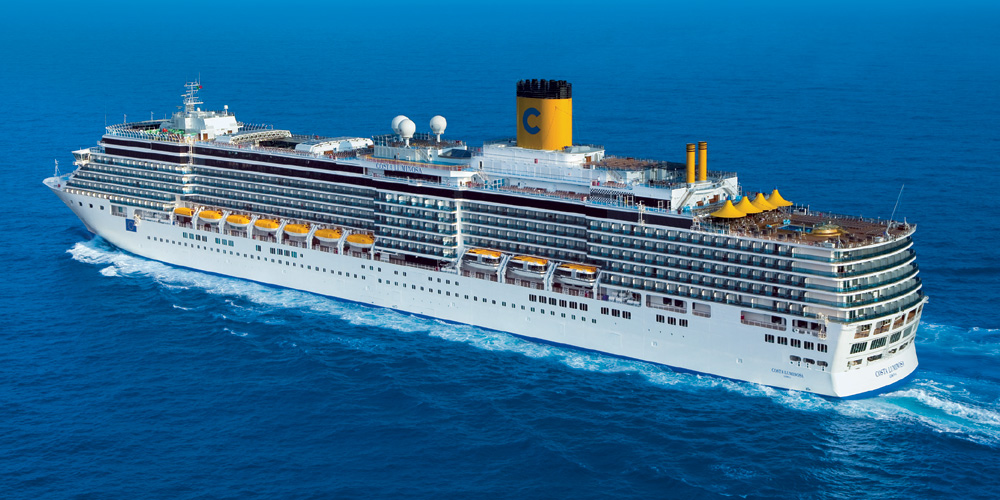 Kreuzfahrtschiff Costa Luminosa. Foto: Costa Kreuzfahrten